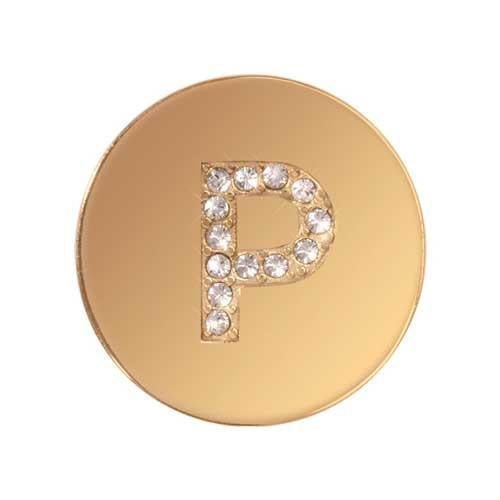Sparkling P Gold Plate 23mm Coin