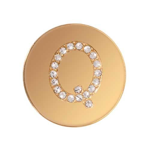 Sparkling Q Gold Plated 23mm Coin