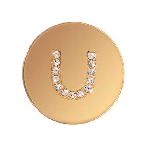 Sparkling U Gold Plated 23mm Coin