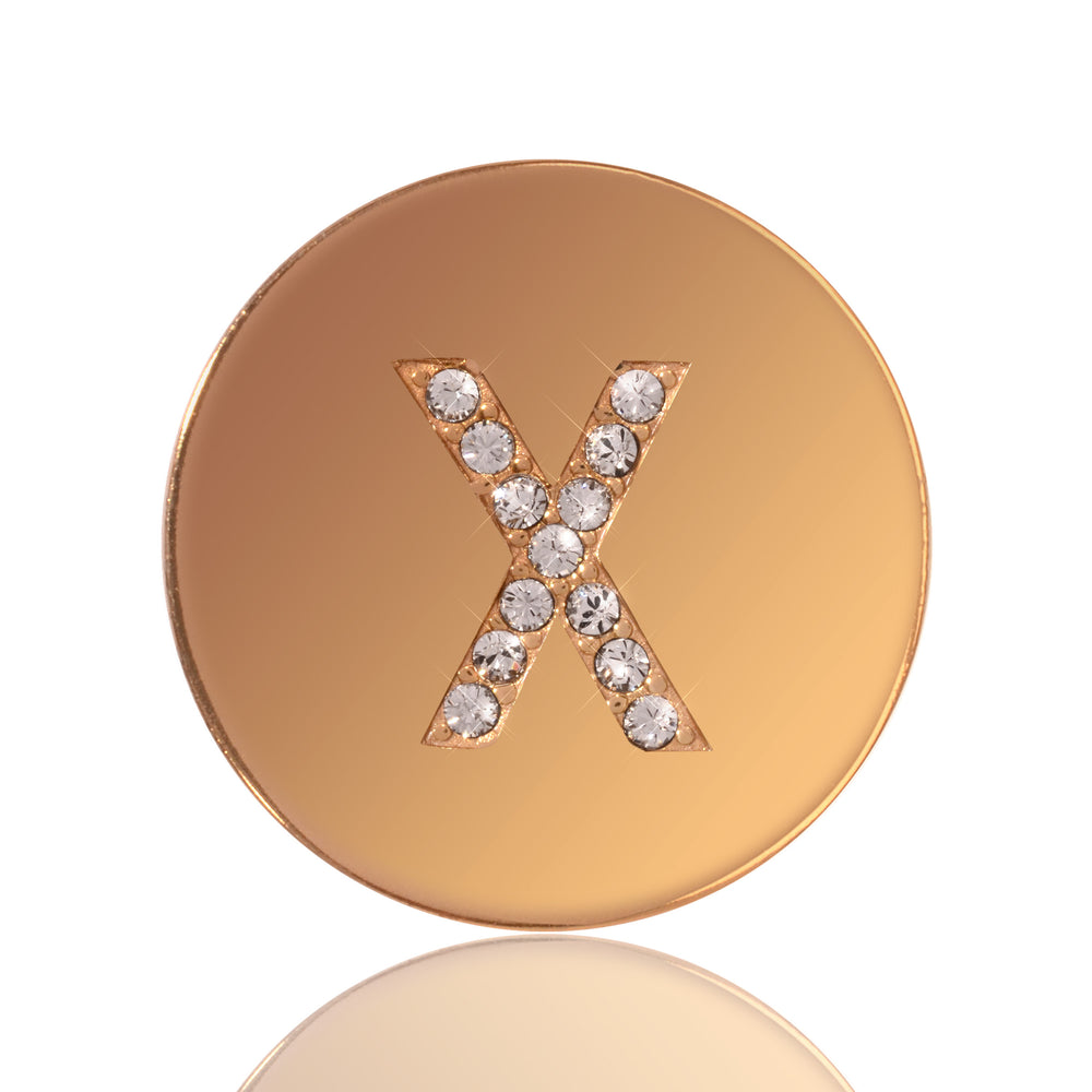 Sparkling X Gold Plated 23mm Coin