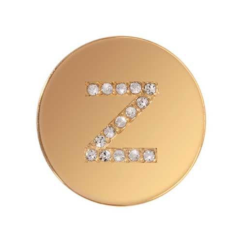 Sparkling Z Gold Plated 23mm Coin