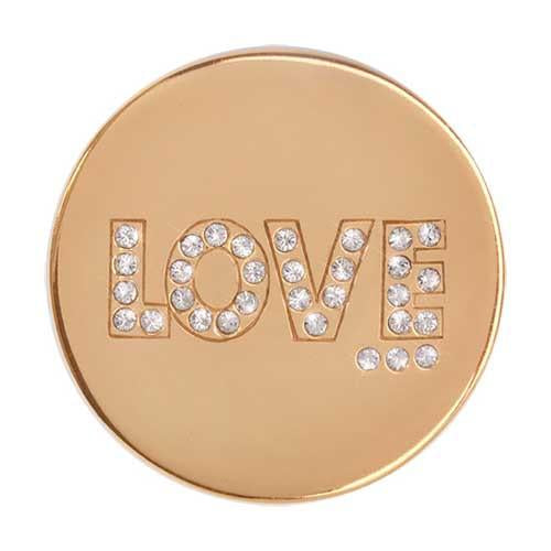 Golden Love Gold Plate 33mm Coin
