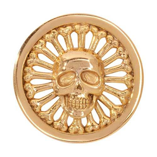 Golden Skull Gold Plated 33mm Coin