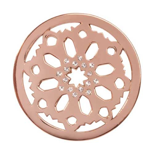 Moroccan Beauty Rose Gold Plate 33mm Coin