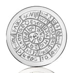 Ancient Scripts For Goodluck Silver Plated 33mm Coin