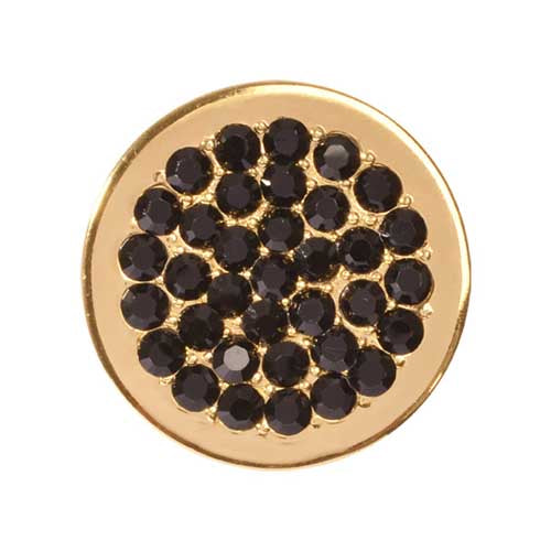 Black Dots Gold Plated 23mm Coin