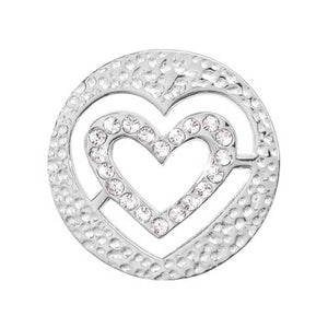 Nikki Lissoni - Small Heart Silver Plate 23mm Coin