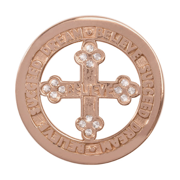 Nikki Lissoni - Dream Believe Succeed Rose Gold Plate 33mm Coin