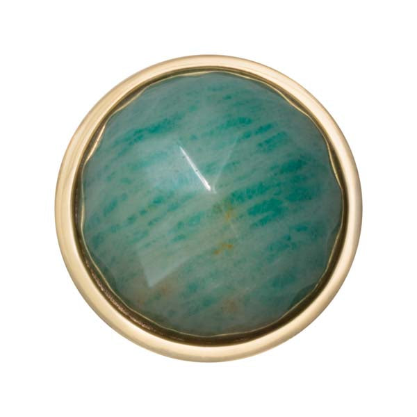 Aqua Quartzite G/P 23Mm Coin