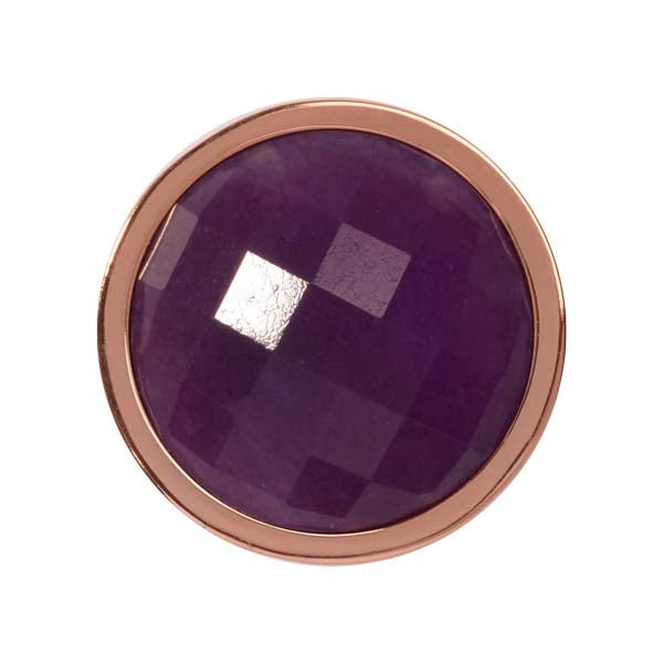 Dyed Lavender Quartzite Rose Gold Plate 23mm Coin
