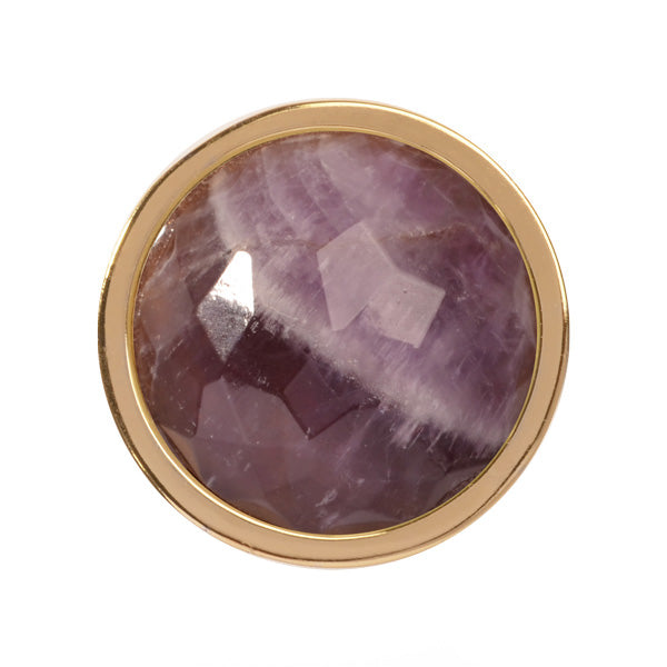 Amethyst Gold Plate 23mm Coin