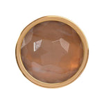 Carnelian Brazil Gold Plated 23mm Coin