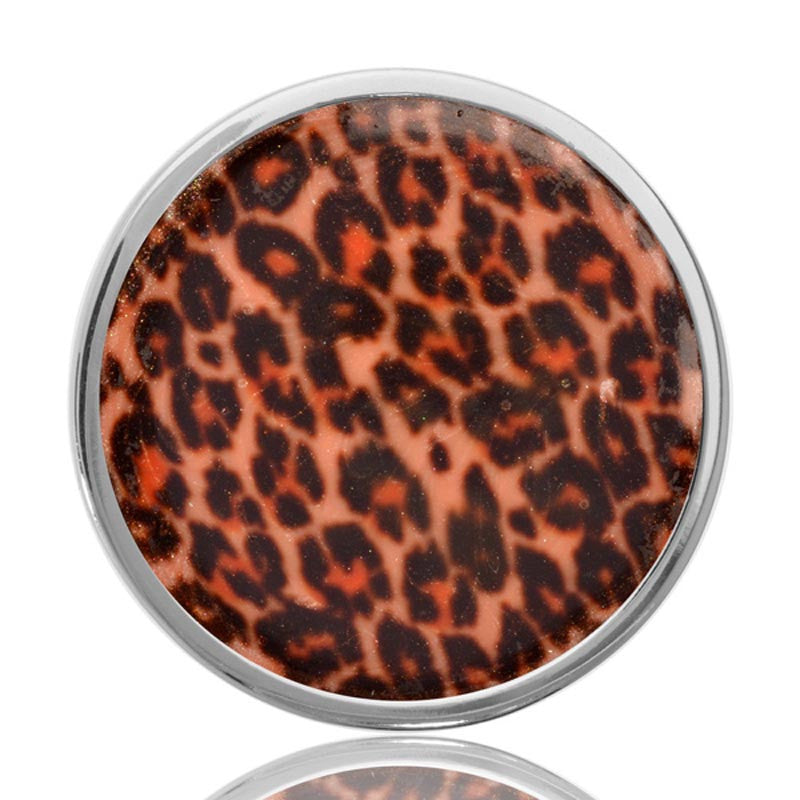 Brown Leopard Silver Plated 33mm Coin