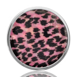 Nikki Lissoni Pink Leopard Silver Plated 33mm Coin