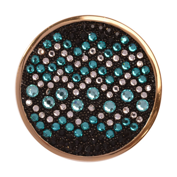 Sense Of Glamour Light Blue Gold Plate 33mm Coin