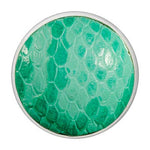 Leather Snake Forrest Green Silver Plate 33mm Coin