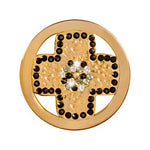 Black Cross Gold Plated 23mm Coin