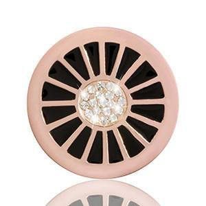 Nikki Lissoni - Sparkling Wheel Rose Gold Plate 23mm Coin