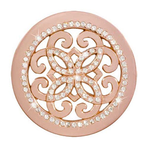 Nikki Lissoni - Baroque Rose Gold Plate 33mm Coin
