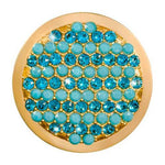 Fashion Turquoise Gold Plated 33mm Coin