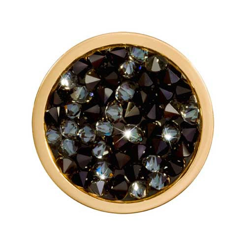 Nikki Lissoni - Black Rock Crystal Gold Plate 23mm Coin