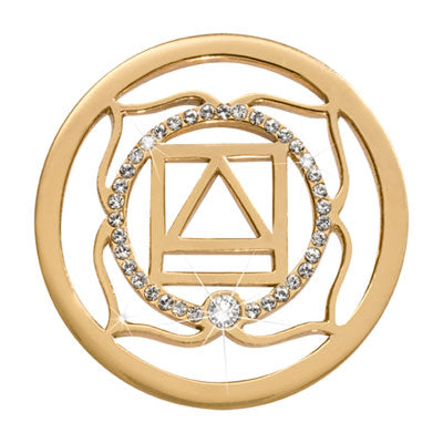 1st Chakra - Instinct Survival & Security Gold Plated 33mm Coin