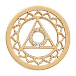 5th Chakra - Speech & Self Expression Gold Plated 33mm Coin