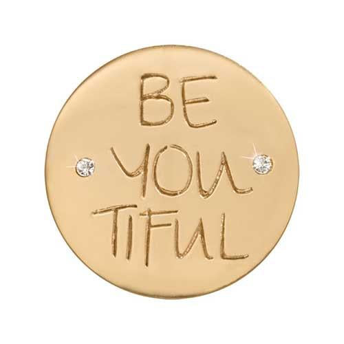 Be-You-Tiful Gold Plate 23mm Coin