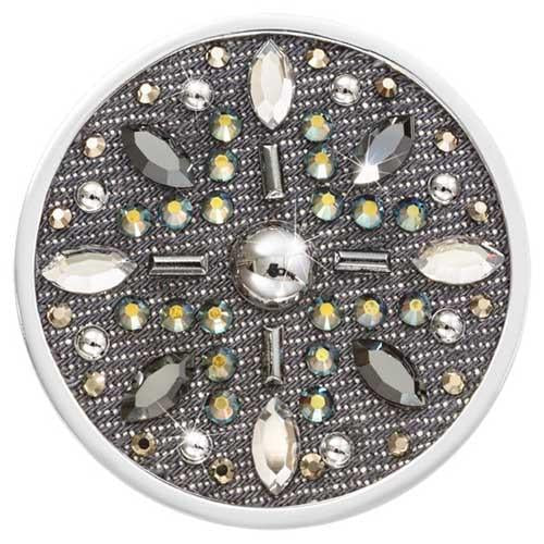 Denim Dreams - Sparkle Star Silver Plate 43mm Coin