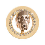 Day Of The Dead - Gold Sparkling Skull Gold Plated 23mm Coin