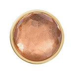 Peach Brown Optical Glass Gold Plated 23mm Coin
