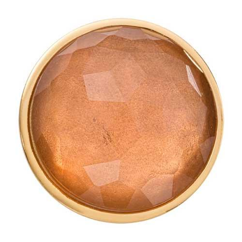 Peach Optical Glass Gold Plated 33mm Coin