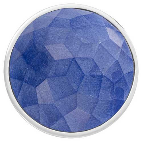 Blue Fiber Glass Silver Plate 43mm Coin