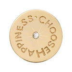 Choose Happiness Gold Plate 23mm Coin