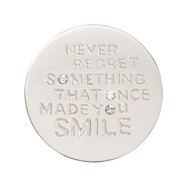 Never Regret Silver Plated 23Mm Coin