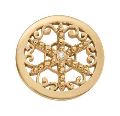 Nikki Lissoni - Wheel Of Fortune Gold Plate 23mm Coin