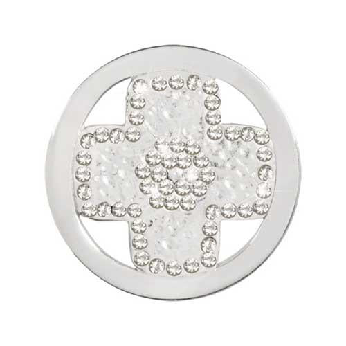 Cross Silver Plate 23mm Coin