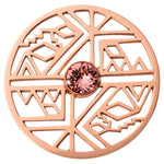 Wild And Free Rose Gold Plate 43mm Coin