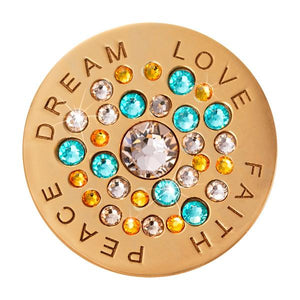 Love Faith Peace Dream Gold Plate 33mm Coin