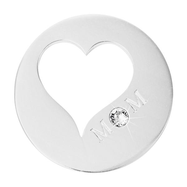 Nikki Lissoni - Mom Close To Your Heart Silver Plate 33mm Coin