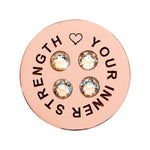 Love You Innerstrength Rose Gold Plated 23mm Coin