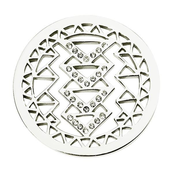 Aztec Beauty Silver Plated 33mm Coin