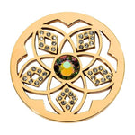 Charming Flower Gold Plated 33mm Coin
