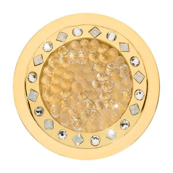 Nikki Lissoni - Rock With You Clear Swarovski Gold Plate 33mm Coin