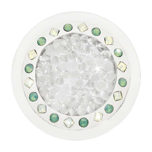 Rock With You Green Swarovski Silver Plate 33mm Coin