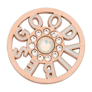 Nikki Lissoni - Good Vibes White Rose Gold Plate 33mm Coin