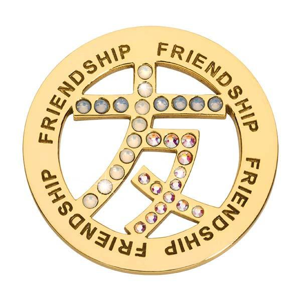 Friendship Sign Gold Plate 33mm Coin