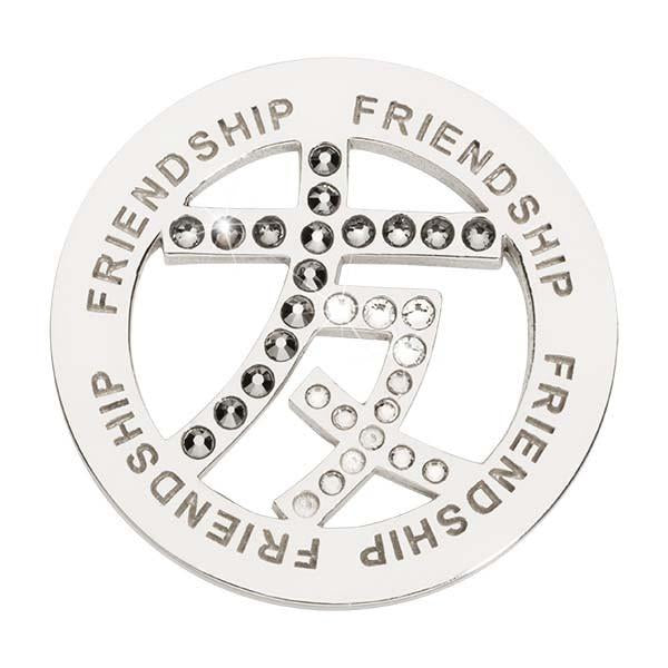 Friendship Sign Silver Plate 33mm Coin