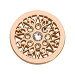 Eight Point Star Rose Gold Plated 23mm Coin