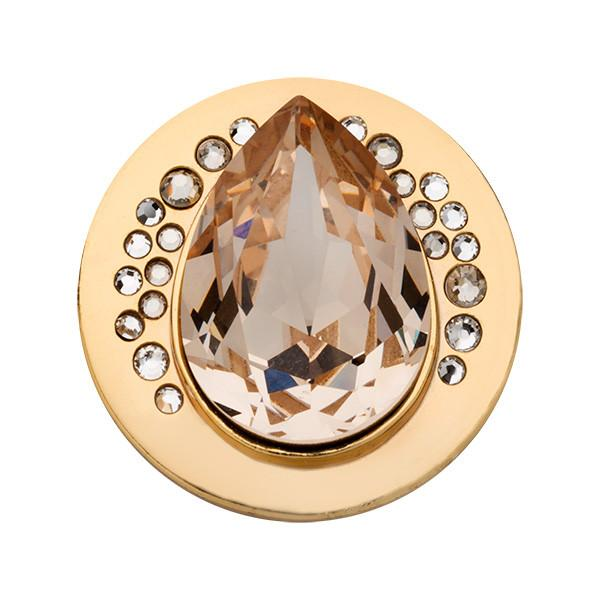 Teardrop Crystal Gold Plated 23mm
